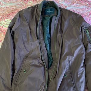 Maroon Bomber Jacket from American Eagle